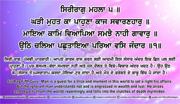 Sri Guru Granth Sahib Ji Arth Ang 43 post 7