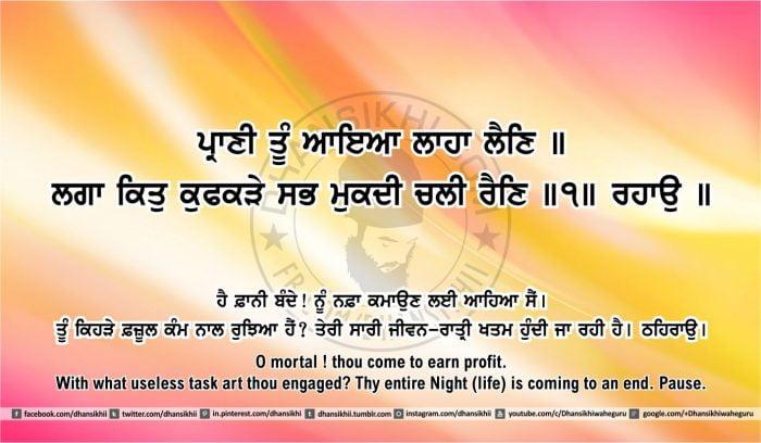 Sri Guru Granth Sahib Ji Arth Ang 43 post 3q